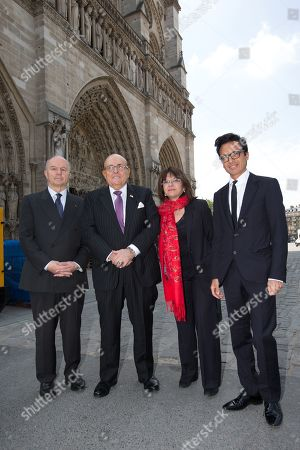 Rudy Giuliani, Nathalie Goulet and Omar Harfouch