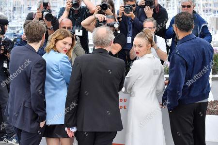 Antoine Reinartz, Lea Seydoux, Arnaud Desplechin, Sara Forestier and Roschdy Zem