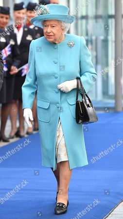 Queen Elizabeth II visits British Airways headquarters, London