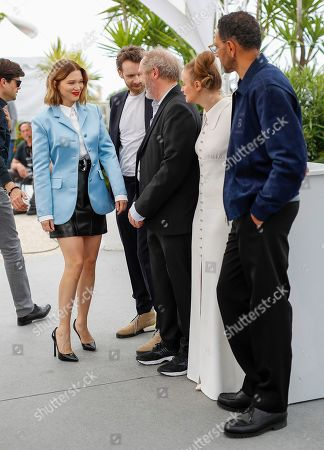 Antoine Reinartz (2-L), French director Arnaud Desplechin (C), French actress Lea Seydoux (L) and French actress Sara Forestier (2-R) and French actor Roschdy Zem (R) pose during the photocall for 'Roubaix, une lumiere (Oh Mercy!)' at the 72nd annual Cannes Film Festival, in Cannes, France, 23 May 2019. The movie is presented in the Official Competition of the festival which runs from 14 to 25 May.