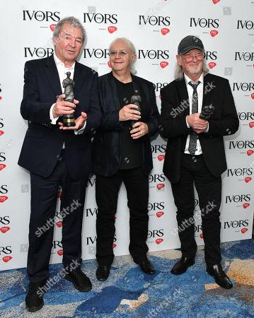 Ian Gillan, Ian Paice and Roger Glover of Deep Purple winners of Ivor Novello Awards Award for International Achievement