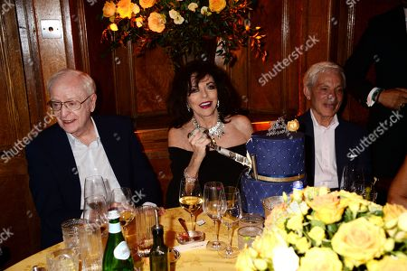 Sir Michael Caine and Joan Collins