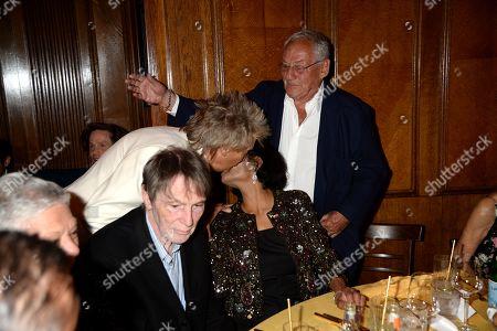 Bill Collins, Rod Stewart, Shakira Caine and Johnny Cash