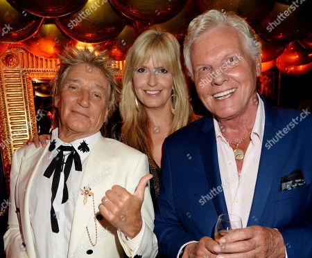 Stock Photo of Rod Stewart, Penny Lancaster and Jess Conrad