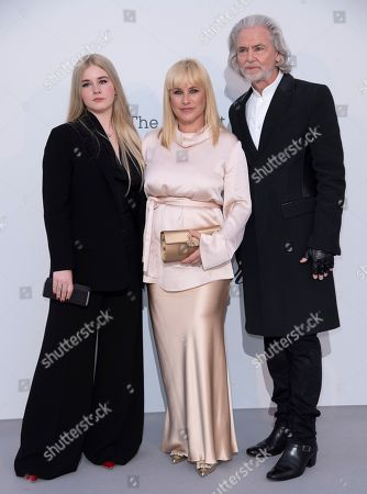 Stock Photo of Harlow Jane-Arquette, Patricia Arquette and Hermann Buhlbecker