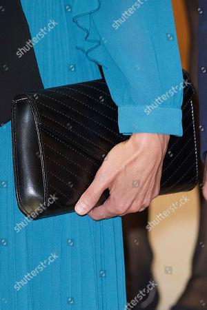 Stock Image of Queen Letizia, bag detail