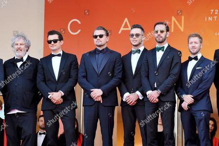 Stock Image of Malcolm Venville, Orlando Bloom, Leonardo DiCaprio and Jean-Eric Vergne