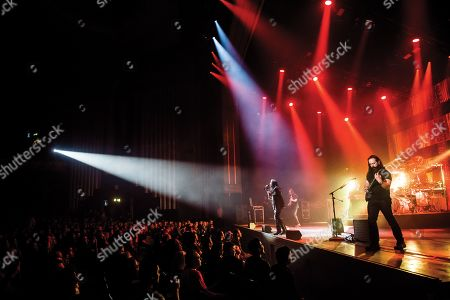 London United Kingdom - April 23: American Progressive Metal Group Dream Theater Performing Live On Stage At The Hammersmith Apollo In London On April 23
