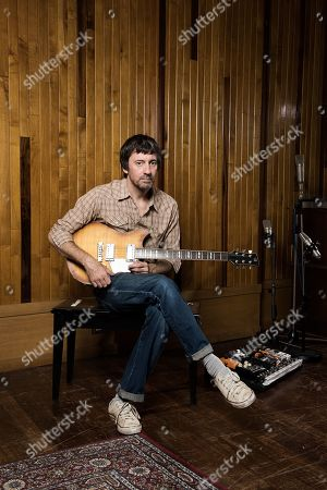 London United Kingdom - August 20: Portrait Of English Musician Graham Coxon Photographed With His Yamaha Revstar Rs620 Electric Guitar At Konk Studios In London On August 20 2018. Coxon Is Best Known As A Singer-songwriter And Guitarist With Indie Rock Group Blur