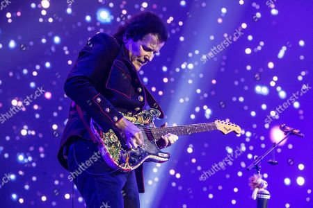 London United Kingdom - June 17: Guitarist Trevor Rabin Of Progressive Rock Group Yes Performing Live On Stage During Stone Free Festival In The O2 Arena London On June 17
