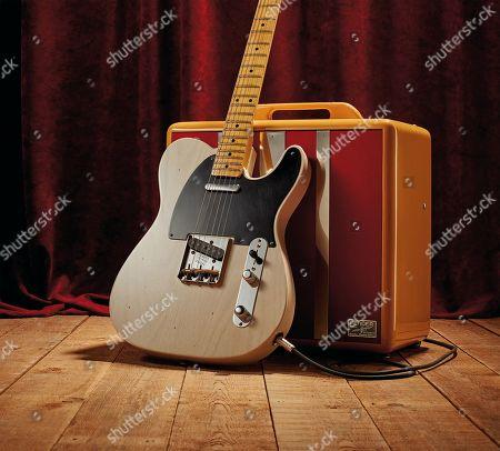 A Fender Custom Shop Eu Master Design '53 Telecaster Electric Guitar With A White Blonde Journeyman Relic Finish