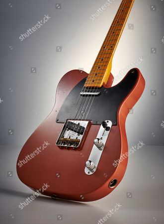 A Fender Custom Shop Eu Master Design '52 Telecaster Electric Guitar With A Chevrolet Bittersweet Journeyman Relic Finish