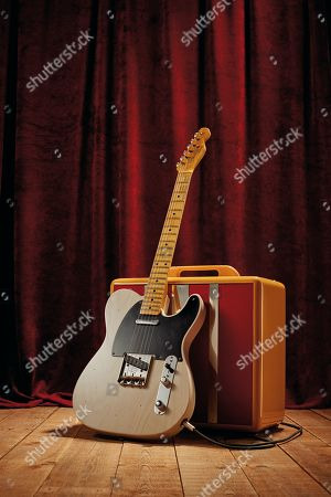 A Fender Custom Shop Eu Master Design '53 Telecaster Electric Guitar With A White Blonde Journeyman Relic Finish