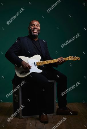 Bath United Kingdom - August 28: Portrait Of American Blues Rock Musician Kirk Fletcher Photographed In Bath England On August 28