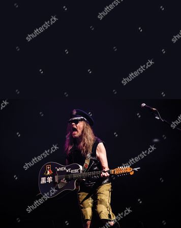 London United Kingdom - February 8: English Rock Musician Julian Cope Performing Live On Stage At The Roundhouse In London On February 4