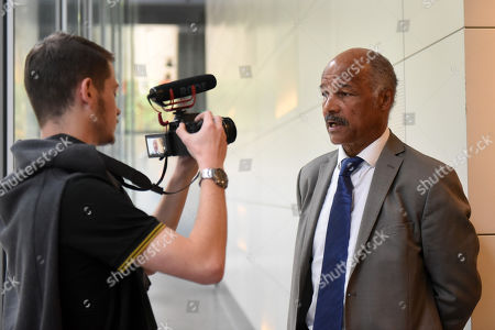 John Conteh is interviewed during the 'I Am Duran' Film Screening at Universal Pictures on 23rd May 2019