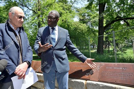 Denis Mukwege is a Congolese doctor and activist, Nobel Peace Prize 2018. Specialized in gynecology and obstetrics, he founded Panzi Hospital in 1998, where he became the world's leading expert in the treatment of internal physical damage caused by rape. A plaque is dedicated to Denis Mukwege in Milan, in the Garden of the Righteous around the world.