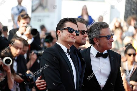 Orlando Bloom, Leonardo DiCaprio and Alejandro Agag arrive for the screening of 'Il traditore' (The Traitor) during the 72nd annual Cannes Film Festival, in Cannes, France, 23 May 2019. The movie is presented in the Official Competition of the festival which runs from 14 to 25 May.