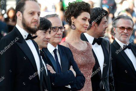 Fausto Russo Alesi, Italian actor Luigi Lo Cascio, Italian director Marco Bellocchio, Brazilian actress Maria Fernanda Candido, Italian actor Pierfrancesco Favino and a guest arrive for the screening of 'Il traditore' (The Traitor) during the 72nd annual Cannes Film Festival, in Cannes, France, 23 May 2019. The movie is presented in the Official Competition of the festival which runs from 14 to 25 May.