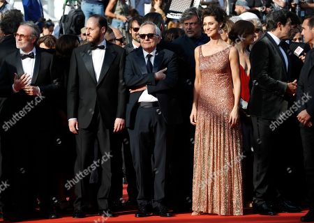 A guest, Fausto Russo Alesi, Marco Bellocchio, Maria Fernanda Candido and Pierfrancesco Favino arrive for the screening of 'Il traditore' (The Traitor) during the 72nd annual Cannes Film Festival, in Cannes, France, 23 May 2019. The movie is presented in the Official Competition of the festival which runs from 14 to 25 May.