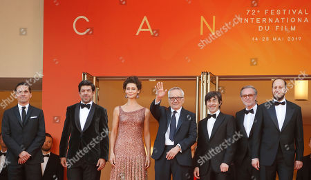 A guest, Italian actor Pierfrancesco Favino, Brazilian actress Maria Fernanda Candido, Italian director Marco Bellocchio, Italian actor Luigi Lo Cascio, a guest, Italian actor Fausto Russo Alesi and a guest arrive for the screening of 'Il traditore' (The Traitor) during the 72nd annual Cannes Film Festival, in Cannes, France, 23 May 2019. The movie is presented in the Official Competition of the festival which runs from 14 to 25 May.