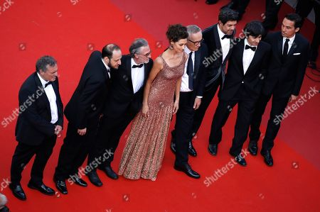 A guest, Italian actor Fausto Russo Alesi, Italian actor Fabrizio Ferracane, Brazilian actress Maria Fernanda Candido, Italian director Marco Bellocchio, Italian actor Pierfrancesco Favino, Italian actor Luigi Lo Cascio and a guest arrive for the screening of 'Il traditore' (The Traitor) during the 72nd annual Cannes Film Festival, in Cannes, France, 23 May 2019. The movie is presented in the Official Competition of the festival which runs from 14 to 25 May. for the screening of 'Il traditore' (The Traitor) during the 72nd annual Cannes Film Festival, in Cannes, France, 23 May 2019. The movie is presented in the Official Competition of the festival which runs from 14 to 25 May.