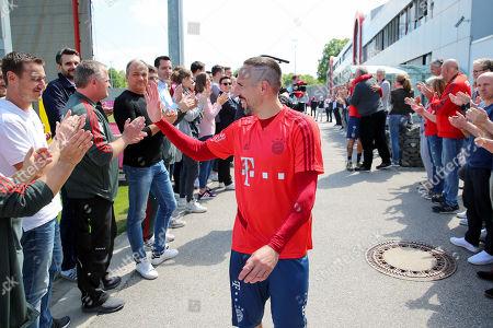 Editorial image of Football: Germany, 1. Bundesliga, farewell of Franck Ribery, Uli Hoeness, Muenchen - 23 May 2019