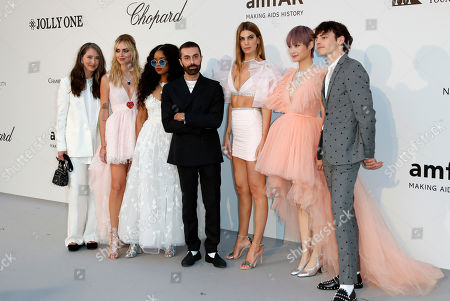 Ann-Sofie Johansson, Chiara Ferragni, H.E.R., Giambattista Valli, Bianca Brandolini, Chris Lee and Ross Lynch attend the Cinema Against AIDS amfAR gala 2019 held at the Hotel du Cap, Eden Roc in Cap d'Antibes, France, 23 May 2019, within the scope of the 72nd annual Cannes Film Festival that runs from 14 to 25 May.