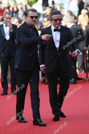 Leonardo DiCaprio, Alejandro Agag. Leonardo DiCaprio, left, and businessman Alejandro Agag pose for photographers upon arrival at the premiere of the film 'The Traitor' at the 72nd international film festival, Cannes, southern France