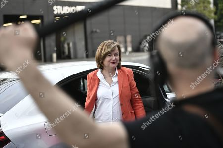 Front-runner candidate for French La Republique En Marche (LREM) party Nathalie Loiseau arrives for a TV debate as part of the campaign for the European elections, on the set of the French TV channel BFM, in La Plaine-Saint-Denis, outside Paris, France, 23 May 2019. The European Parliament elections are held the member countries of the European Union from 23 to 26 May 2019.