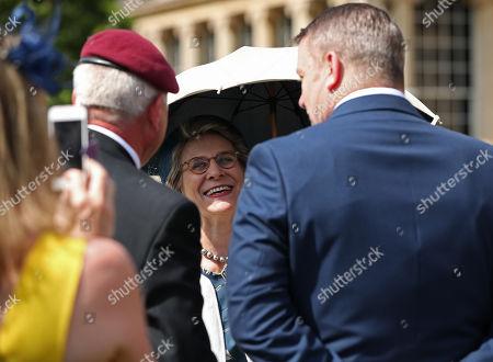 The Duchess of Gloucester meeting veterans at the Not Forgotten Association Annual Garden Party at Buckingham Palace