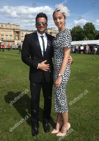 Peter Andre and his wife Emily MacDonagh during the Not Forgotten Association Annual Garden Party at Buckingham Palace
