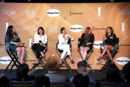Shirley Velasquez, Victoria Alonso, Roselyn Sanchez, Rachel Miller and Lisa Vidal