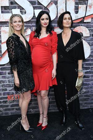Rachael Taylor, Krysten Ritter and Carrie-Anne Moss