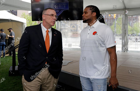 Editorial picture of NFL Draft Football, Cleveland, USA - 23 May 2019