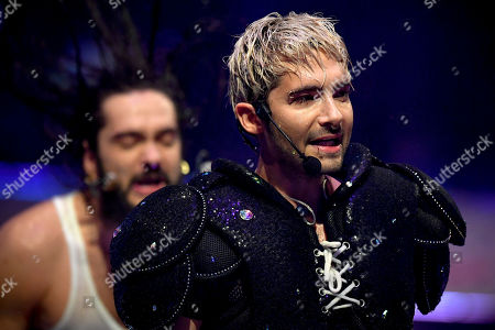 Bill Kaulitz of pop-rock band 'Tokio Hotel' performs during the final of the television program 'Germany's Next Topmodel' in Duesseldorf, Germany, 23 May 2019. It is the 14th edition of the annual model casting reality television series hosted by German model Heidi Klum.