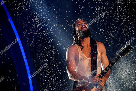 Tom Kaulitz of pop-rock band 'Tokio Hotel' performs during the final of the television program 'Germany's Next Topmodel' in Duesseldorf, Germany, 23 May 2019. It is the 14th edition of the annual model casting reality television series hosted by German model Heidi Klum.