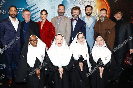 Douglas Mackinnon (director), Adria Arjona, Jon Hamm, Michael Sheen, David Tennant, Nick Offerman, Neil Gaiman and the Chattering Order of St. Beryl