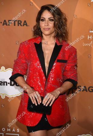 "Valery Ortiz arrives at People en Espanol's ""Most Beautiful"" party, at 1 Hotel in West Hollywood, Calif"
