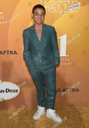 """Jason Genao arrives at People en Espanol's """"Most Beautiful"""" party, at 1 Hotel in West Hollywood, Calif"""