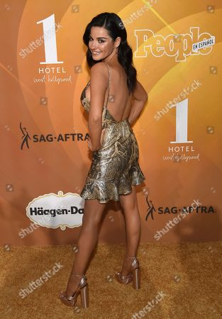 """Maite Perroni arrives at People en Espanol's """"Most Beautiful"""" party, at 1 Hotel in West Hollywood, Calif"""