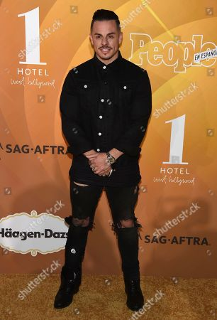 "Casper Smart arrives at People en Espanol's ""Most Beautiful"" party, at 1 Hotel in West Hollywood, Calif"