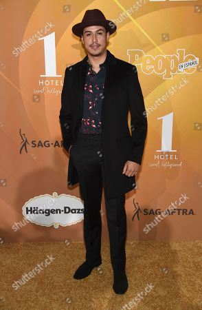 """Julio Macias arrives at People en Espanol's """"Most Beautiful"""" party, at 1 Hotel in West Hollywood, Calif"""