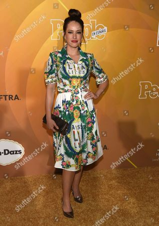 """Stock Photo of Sofia Lama arrives at People en Espanol's """"Most Beautiful"""" party, at 1 Hotel in West Hollywood, Calif"""