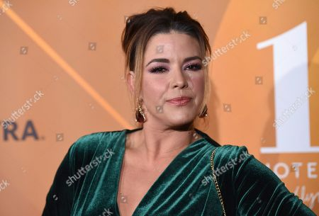 "Alicia Machado arrives at People en Espanol's ""Most Beautiful"" party, at 1 Hotel in West Hollywood, Calif"