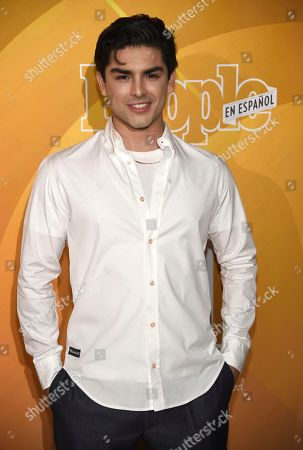 "Diego Tinoco arrives at People en Espanol's ""Most Beautiful"" party, at 1 Hotel in West Hollywood, Calif"