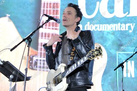 "Jakob Dylan performs on stage after the screening of ""Echo in the Canyon"" at Cinerama Dome, in Los Angeles"