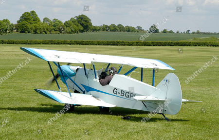 Stock Picture of Plumb BGP-1 owned and flown by Barry George Plumb who is sitting in the cockpit