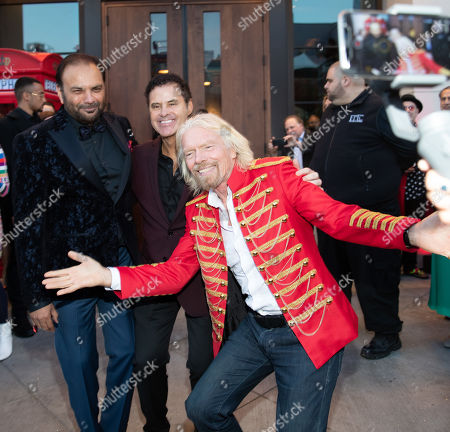 Stock Photo of Jay Patel, Raoul Leal, Sir Richard Branson