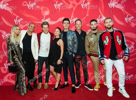 Stock Picture of Ashlee Simpson, Evan Naess, Ryan Cabrera, Tatiana Velasquez, Daniel Sepulveda, Jason Felts, Michael Turchin, Lance Bass
